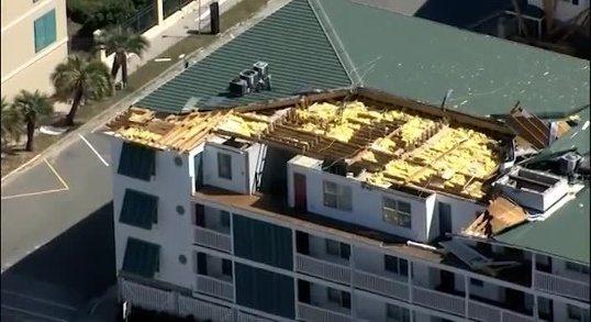Tybee Island Damage (image via wyff4.com)