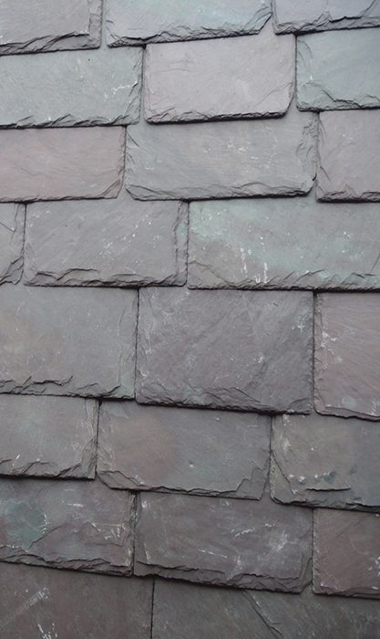 Vermont Black Slate : Vermont mottled purple black diamond slate