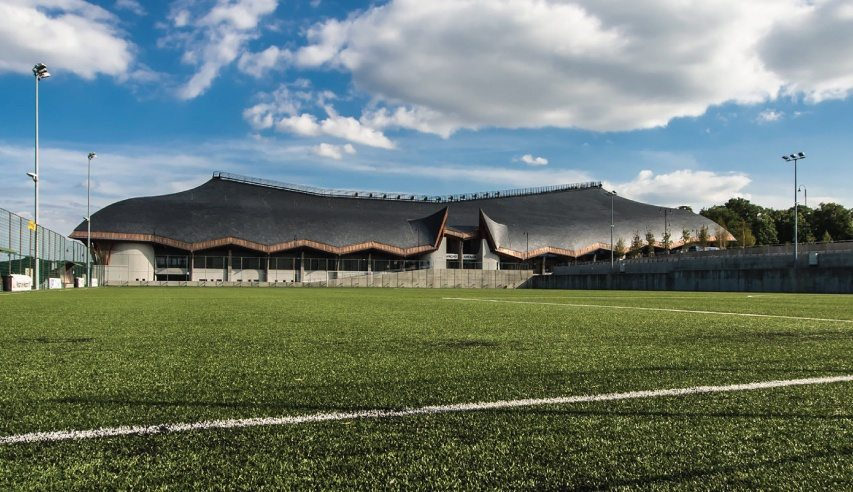 slate roofing arena