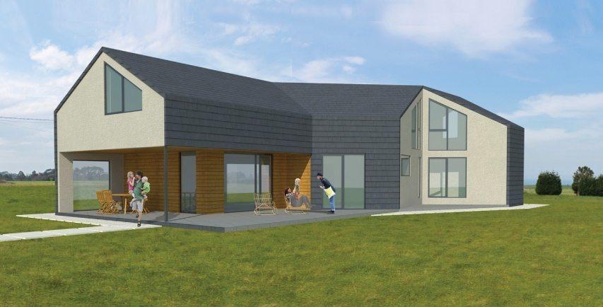 Energy-Saving Slate Passive House